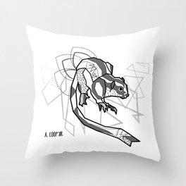 Geometric Striped Possum Throw Pillow