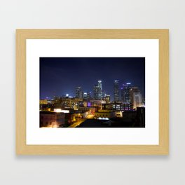 Photography in Downtown. Framed Art Print