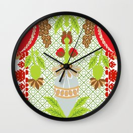 Holiday Holiday Cheers Wall Clock