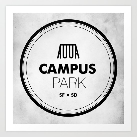 Campus Park Art Print