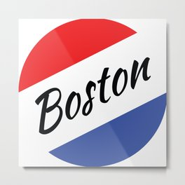 Boston Red White and Blue Metal Print