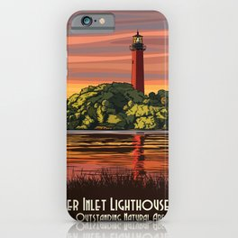 Vintage Poster - Jupiter Inlet Lighthouse Outstanding Natural Area, Florida (2015) iPhone Case