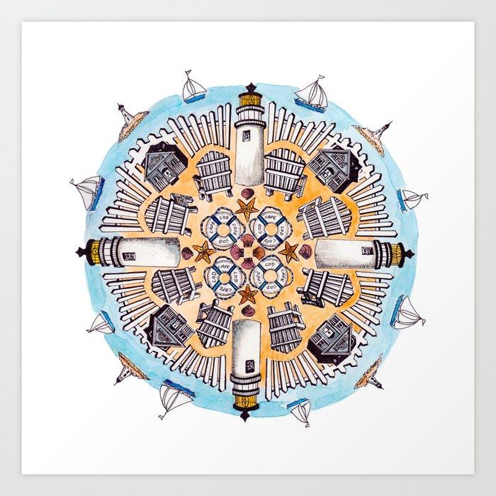 Cape Cod Mandala Art Print