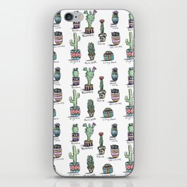 Cactus and Succulent Pattern iPhone Skin