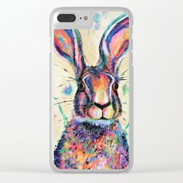 Harry Hare Clear iPhone Case