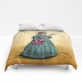 Tessy Tigress Shreds a Solo . . . Grrrrrr! Comforters