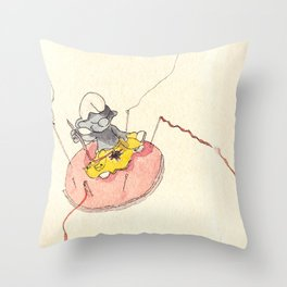 painted smurf Throw Pillow