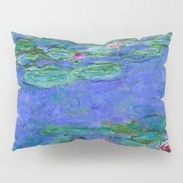 Claude Monet Waterlilies Red Pillow Sham