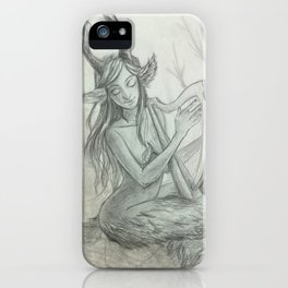 The Faun and Her Music iPhone Case