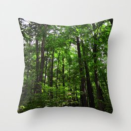 Forest // Smell The Green Throw Pillow