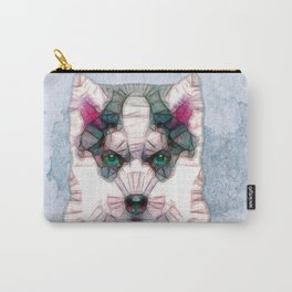 abstract husky puppy Carry-All Pouch