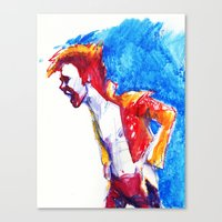 bowie Canvas Prints featuring Bowie by Katie