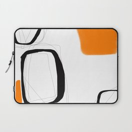 Blocks-Orange Crowd  Laptop Sleeve