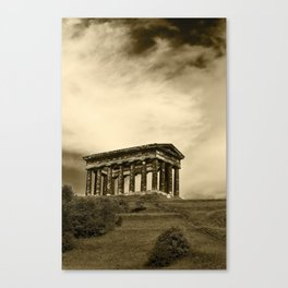 Penshaw monument in sepia Canvas Print
