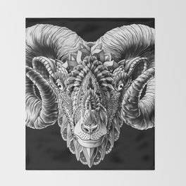 Ram Head Throw Blanket
