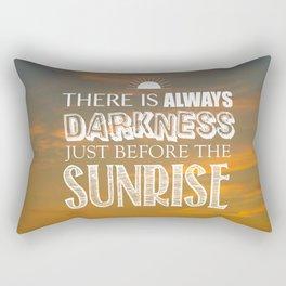 Darkness Before the Sunrise Rectangular Pillow