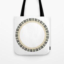 Pianom Keys Circle Tote Bag