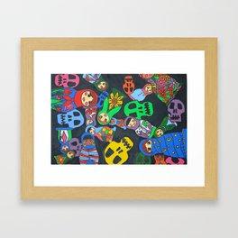Dolls N Skulls Framed Art Print