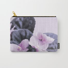 Saintpaulia flower on pink pastel background Carry-All Pouch
