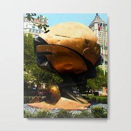 World Trade Center Globe jGibney The MUSEUM Society6 Gifts Metal Print