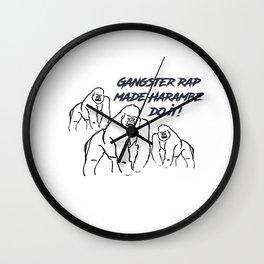 Gangster Rap Made Harambe Do It Wall Clock