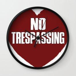 No Trespassing Wall Clock