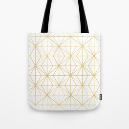Geometric Golden Pattern Tote Bag