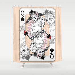 Queen Of Spades Shower Curtain