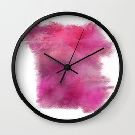 Abstract Pink Color Story Wall Clock