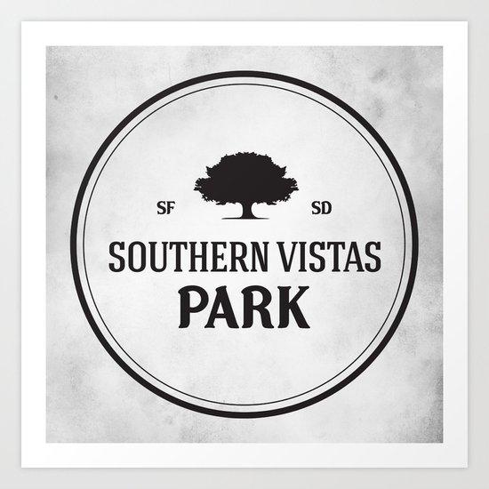 Southern Vistas Park Art Print