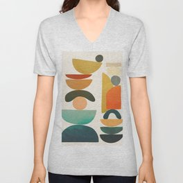 Modern Abstract Art 72 Unisex V-Neck