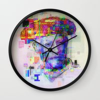 picasso Wall Clocks featuring Pablo Picasso by Steve W Schwartz Art