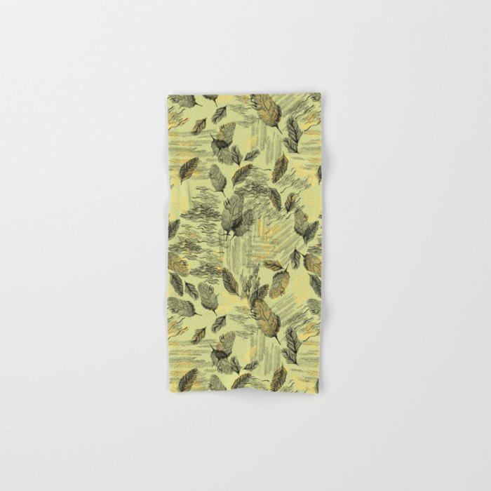 Seamless Blossom Pattern Hand & Bath Towel
