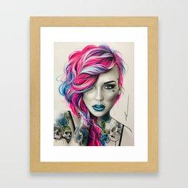 'Inked Neon' Framed Art Print