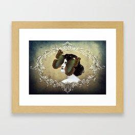 La Femme Papillon Framed Art Print