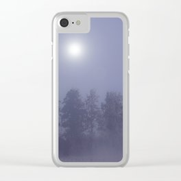 Silent Night in Foggy Atmosphere #decor #society6 Clear iPhone Case