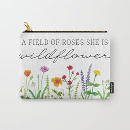 She is a Wildflower Carry-All Pouch
