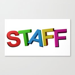 Colorful STAFF Canvas Print