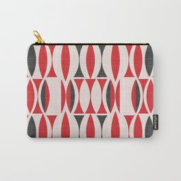 Seventies in Cherry Red (little) Carry-All Pouch