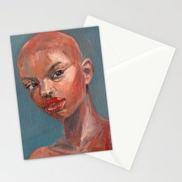 Oil painting - Girl Portrait #5 Stationery Cards