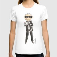 karl lagerfeld T-shirts featuring Little Karl Lagerfeld by KahriAnne Kerr