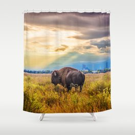 The Great American Bison Shower Curtain