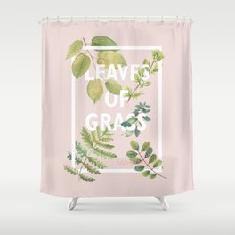 Leaves of Grass, Walt Whitman, book cover illustration, american poetry collection, flowers art Shower Curtain