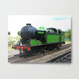 Vintage Steam railway engine Metal Print