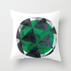 Jade Eye Throw Pillow