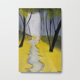 In the Yellow Woods Metal Print