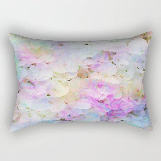 Marble Lights Hydrangea Rectangular Pillow