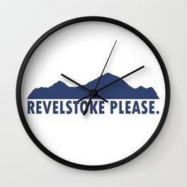 Revelstoke Please Wall Clock