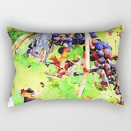 Hortus Conclusus: bunches of black grapes Rectangular Pillow