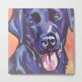 The happy Black Lab Love of My Life -your Labrador dog keeps you smiling! Metal Print